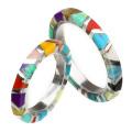 【刻印可能】【ペア販売】マルチストーン ペア リング シルバー アクセサリー 指輪 [シルバーリング] ラッピング無料 送料無料