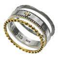 ミニ クロス 3連 リング シルバー アクセサリー 指輪 [シルバーリング] 送料無料