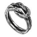 槌目 ノットデザイン リング 指輪  [シルバーリング] 結び目