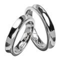 【ペア販売】インサイド ラブ ジルコニア ペアリング シルバー アクセサリー 指輪 [シルバーリング] 送料無料 リング