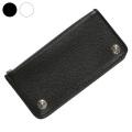 ブラック クロス レザー ウォレット 革財布