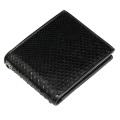 ブラックパイソン レザー ウォレット 蛇 (ヘビ) 革財布