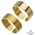 BLUEjewelry(ブルージュエリー) リング 平打ち (6mm幅) ブラス真鍮 マット 艶消し 艶あり 幅広 ハンドメイド メンズ レディース  日本製  (bjr-9001-bs) [ブラスリング]