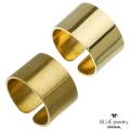 BLUEjewelry(ブルージュエリー) リング 平打ち (12mm幅) ブラス真鍮 マット 艶消し 艶あり 幅広 ハンドメイド メンズ レディース  日本製  (bjr-9003-bs) [ブラスリング]