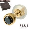 CULTURAL FLUI (カルトラルフルイ) ブランド ゴールド ブラック ダイヤモンドライン ピアス メンズ アクセサリー 送料無料 片耳用(1個売り)