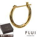 CULTURAL FLUI (カルトラルフルイ) ブランド ゴールド フープ ピアス K10 メンズ アクセサリー 送料無料 片耳用(1個売り)