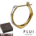 FLUI (フルイ) ブランド ランダムカット インサイド ゴールド ピアス メンズ アクセサリー CULTURAL FLUI カルトラルフルイ 片耳用(1個売り)
