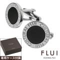 FLUI (フルイ) ブランド ラウンド フレーム オニキス カフス メンズ アクセサリー カフスボタン CULTURAL FLUI カルトラルフルイ 送料無料
