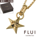 FLUI (フルイ) ブランド ゴールド エッジ スター ペンダント メンズ 星 アクセサリー CULTURAL FLUI カルトラルフルイ
