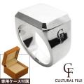 FLUI (フルイ) ブランド ソリッドピンキー リング 印台 メンズ アクセサリー CULTURAL FLUI カルトラルフルイ [シルバーリング]