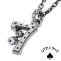 LITTLE DICE (リトルダイス) ブランド ラッキーセブン トランプ ダイスペンダント メンズ ネックレス シルバー アクセサリー [シルバーペンダント]