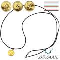 SHUMAIL (シュメール) ブランド ゴールド コイン ペンダント カラーコード 真鍮 コーティング