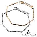 【ペア販売】zanipolo terzini (ザニポロタルツィーニ) ツイストスティック ペア ブレスレット ステンレス アクセサリー [ステンレスブレスレット]