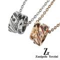 【ペア販売】zanipolo terzini (ザニポロタルツィーニ) ステンレス & タングステン リング ペアペンダント ステンレス アクセサリー [ステンレスペンダント] 送料無料 ペンダント