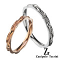 【ペア販売】zanipolo terzini (ザニポロタルツィーニ) ダイヤモンド ウェーブ ペアリング ステンレス アクセサリー [ステンレスリング] 送料無料 ラッピング無料 リング