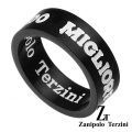 zanipolo terzini (ザニポロタルツィーニ) サージカル ステンレス リング マットブラック メンズ アクセサリー [ステンレスリング]
