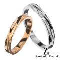 【ペア販売】zanipolo terzini (ザニポロタルツィーニ) ツイスト カット ペアリング ステンレス アクセサリー [ステンレスリング] 送料無料 ラッピング無料 リング