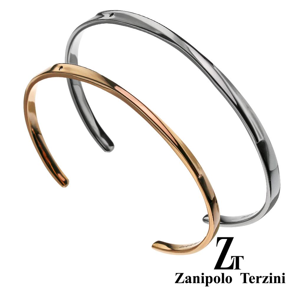 【ペア販売】zanipolo terzini (ザニポロタルツィーニ) インフィニティ ライン ペア バングル ステンレス アクセサリー [ステンレスブレスレット] 送料無料