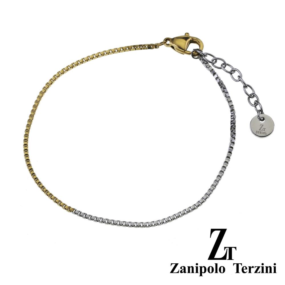 zanipolo terzini(ザニポロタルツィーニ) バイカラー ベネチアンチェーン ブレスレット メンズ レディース ユニセックス  [ステンレスブレスレット] ステンレス アクセサリー