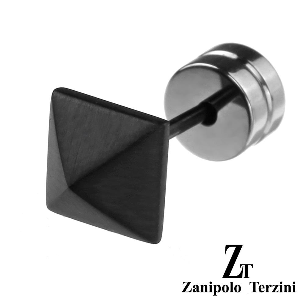 zanipolo terzini(ザニポロタルツィーニ) ブラック スタッズ ステンレス ピアス スタッドピアス メンズ 男性 アクセサリー [ステンレスピアス] 片耳用(1個売り)