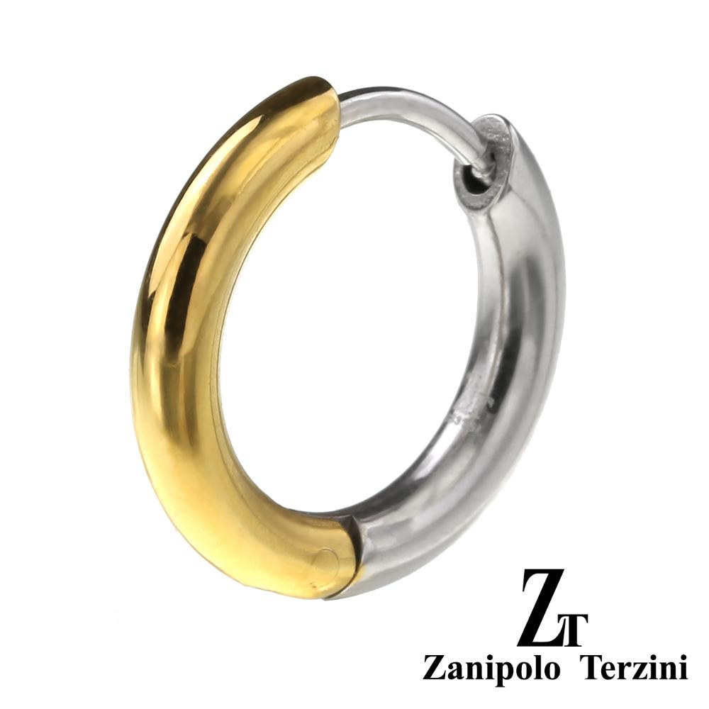 zanipolo terzini(ザニポロタルツィーニ) バイカラー フープ ピアス フープピアス メンズ 男性 アクセサリー [ステンレスピアス] 片耳用(1個売り)