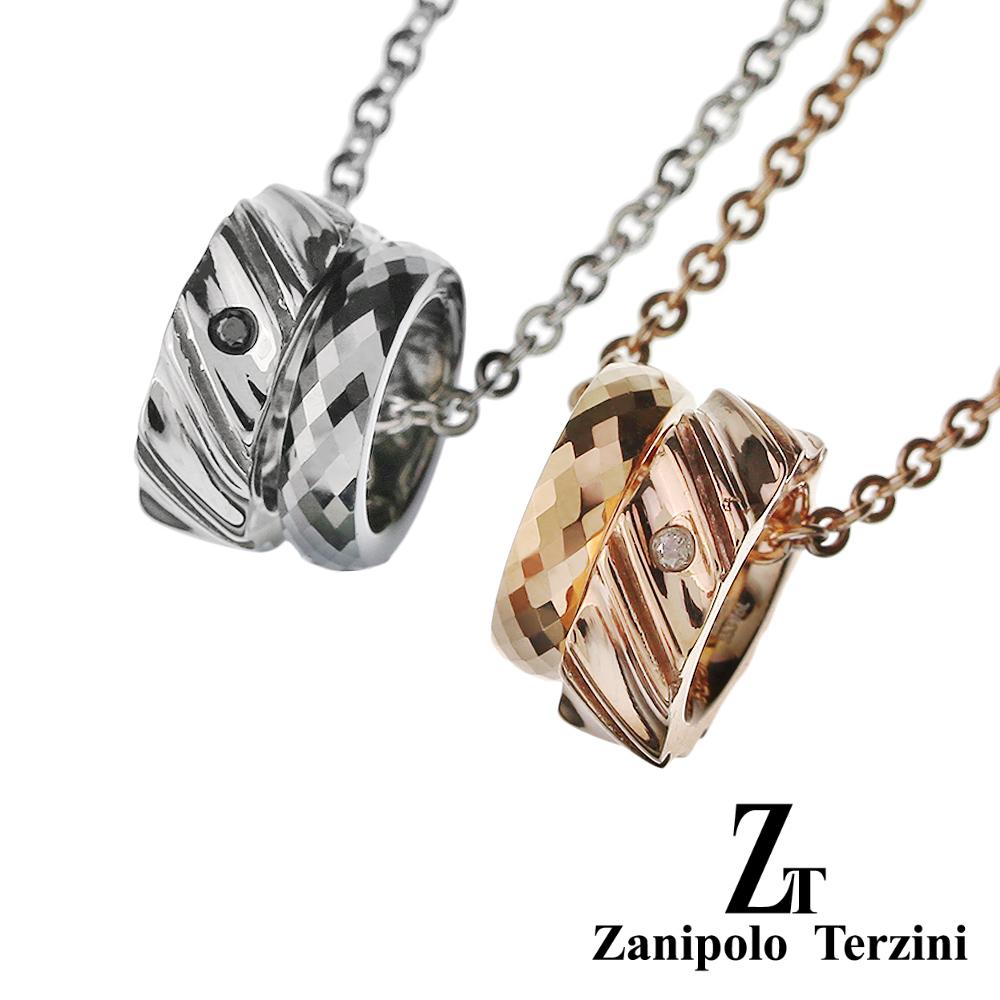 【ペア販売】zanipolo terzini (ザニポロタルツィーニ) ステンレス & タングステン リング ペアペンダント ステンレス アクセサリー [ステンレスペンダント] ペンダント