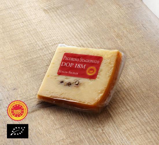 海外有機認証 ペコリーノ18ヶ月熟成 マレルバ社(オーガニックチーズ)イタリア産[約100g]【冷蔵便】