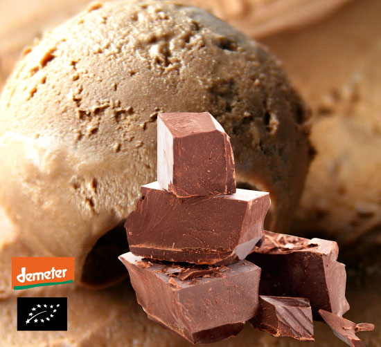 海外有機認証 イタリアンジェラート チョコレート ジルド・ラケーリ(オーガニックジェラート・アイス) デメター認証 イタリア産[88ml]【冷凍便】
