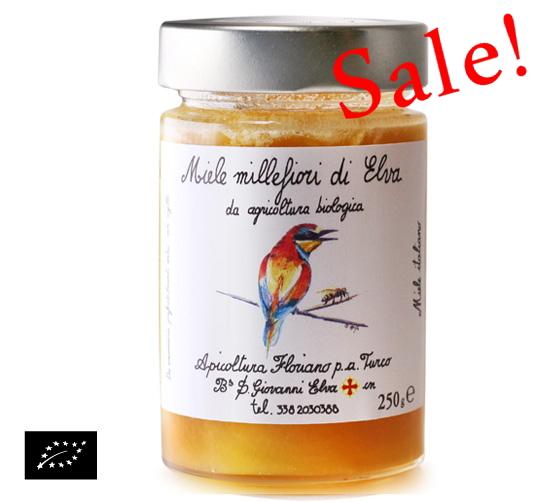 【アウトレット】海外有機認証 アピコルトゥーラ・フロリアーノp.aトゥルーコ はちみつ(オーガニックハチミツ)エルバの花の蜂蜜 イタリア産[250g]【常温便】
