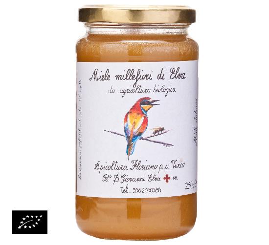 海外有機認証 アピコルトゥーラ・フロリアーノp.aトゥルーコ はちみつ(オーガニックハチミツ)エルバの花の蜂蜜(百花蜜) イタリア産[250g]【常温便】