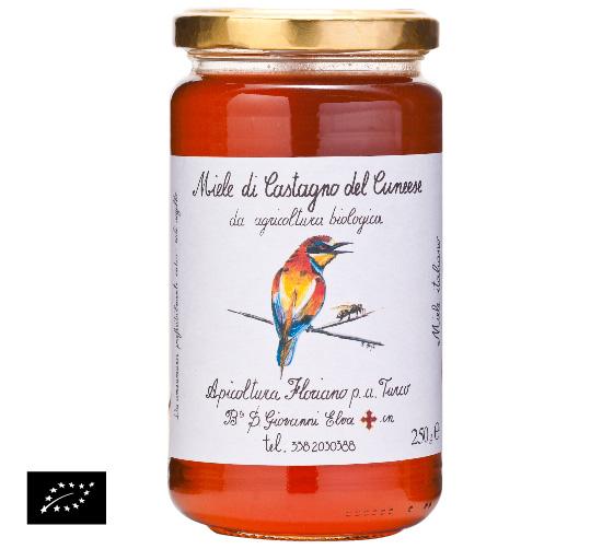 海外有機認証 アピコルトゥーラ・フロリアーノp.aトゥルーコ はちみつ(オーガニックハチミツ)栗の花の蜂蜜 イタリア産[250g]【常温便】