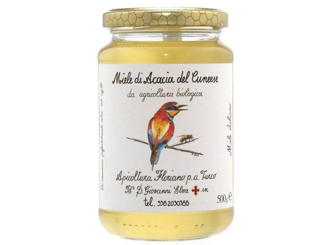 海外有機認証 アピコルトゥーラ・フロリアーノp.aトゥルーコ はちみつ(オーガニックハチミツ)アカシアの蜂蜜 イタリア産[500g]【常温便】