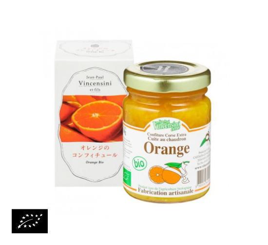 海外有機認証 オレンジのコンフィチュール ジャンポール・バンセンシニー社(オーガニックジャム)フランス産[110g]《常温便》