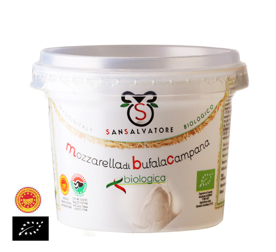 海外有機認証 モッツァレラ ブッファラ サンサルバトーレ(オーガニック 水牛乳モッツァレラチーズ)[約125g]【冷蔵便】