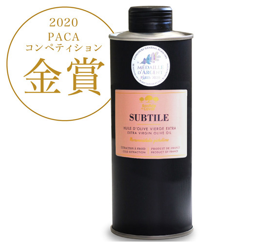 エキストラバージンオリーブオイル スブティル(オリーブオイル SUBTILE)フランス産[500ml]【常温便】