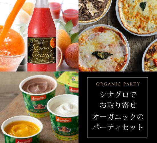 【御一人様用】選べるオーガニックパーティーセット(ブラッドオレンジジュース+ローマ風ピッツァ+イタリアンジェラート)【冷凍便】
