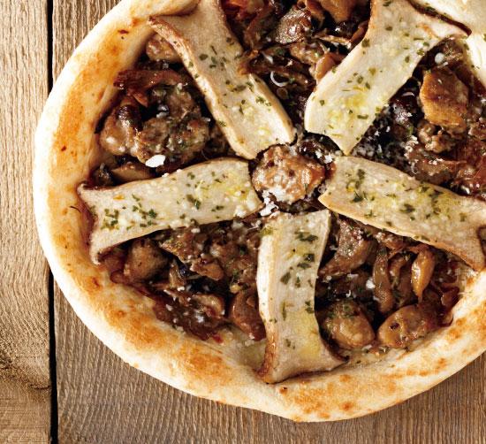 【ナポリ風ピザ】「ポルチーニ&いろいろキノコのフンギビアンコ」天然酵母・有機小麦粉使用ピッツァ【冷凍便】