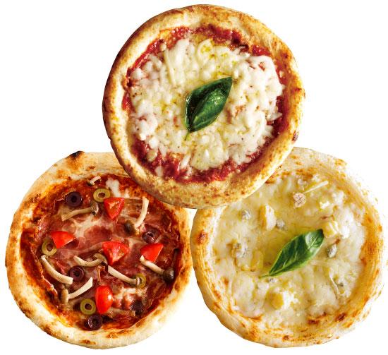 【ナポリ風ピザ】「選べるピザ3枚セット」天然酵母・有機小麦粉使用ピッツァ【冷凍便】