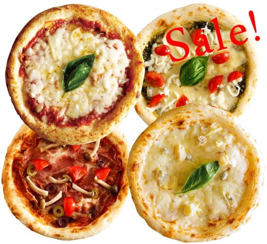 【商品入れ替えのため大特価】【ナポリ風ピザ】「選べるピザ4枚セット」天然酵母・有機小麦粉使用ピッツァ【冷凍便】