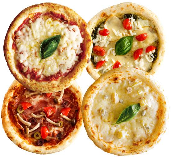 【ナポリ風ピザ】「選べるピザ4枚セット」天然酵母・有機小麦粉使用ピッツァ【冷凍便】