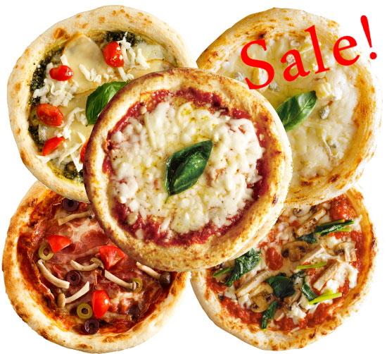 【商品入れ替えのため大特価】【ナポリ風ピザ】「選べるピザ5枚セット」天然酵母・有機小麦粉使用ピッツァ【冷凍便】