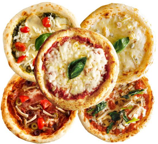 【ナポリ風ピザ】「選べるピザ5枚セット」天然酵母・有機小麦粉使用ピッツァ【冷凍便】