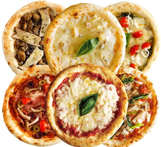 【ナポリ風ピザ】「選べるピザ6枚セット」天然酵母・有機小麦粉使用ピッツァ【冷凍便】
