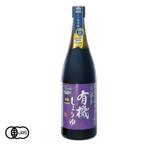 有機JAS認証 有機しょうゆ 弓削多醤油(有機醤油)日本産[720ml]《常温便》