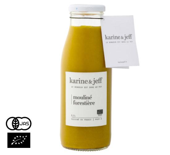 有機JAS認証 森の木こりのスープ カリーヌ&ジェフ(オーガニック 栗かぼちゃとマッシュルームのスープ)フランス産[500ml]【常温便】