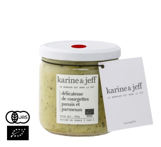 有機JAS認証 ズッキーニとパースニップのマッシュ(パルメザン入) カリーヌ&ジェフ(オーガニック パースニップのスープ)フランス産[390ml]