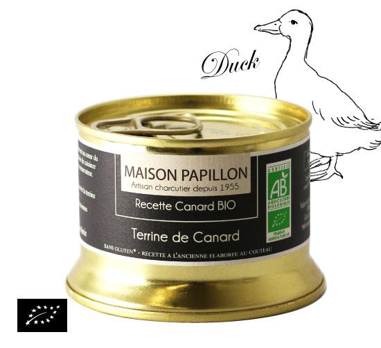 海外有機認証 カモのテリーヌ(オーガニックテリーヌ)フランス産 パテ[130g]【常温便】