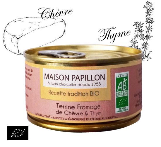ユーロリーフ認証 有機豚肉とシェーブルとタイムのテリーヌ(アヴェロン産テリーヌ)フランス産 パテ[130g]【常温便】