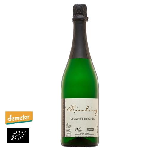海外有機認証 ビオワインNV(2015) Riesling Bio Sekt brut(オーガニックワイン リースリング ビオ ゼクトブリュット)ドイツ産[750ml]【常温便】