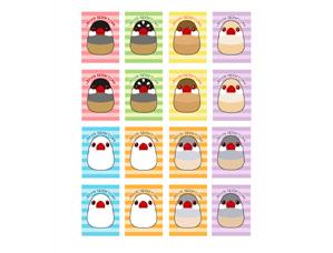 【FT&ぶんちょ屋】シール3/文鳥◆クロネコDM便可能